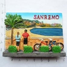 Италия магниты на холодильник Сан-Ремо Туризм Сувенир декоративные наклейки