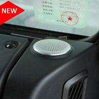 2Pcs Car Dashboard Speaker Cover Trim Aluminum Alloy Fit For Jaguar XE 2015 2016 For Jaguar