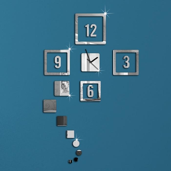 12 Square Silver Blocks Frames Art Modern Luxury Design DIY 3D ...