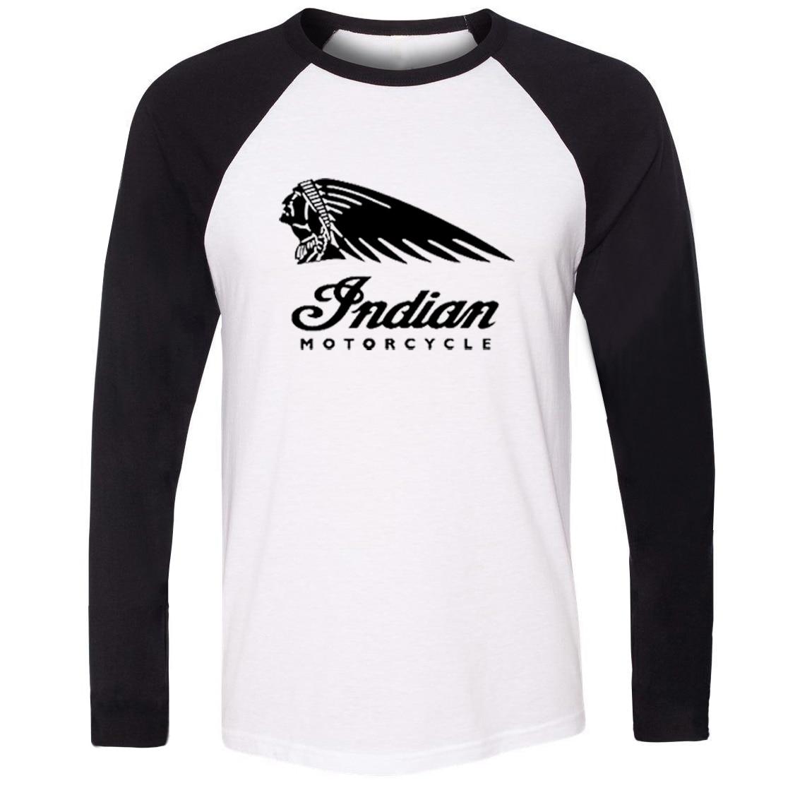 Desain t shirt raglan - Idzn Unisex T Shirt Retro Vintage Sepeda Motor Indian Victory Art Pola Desain Raglan Pria