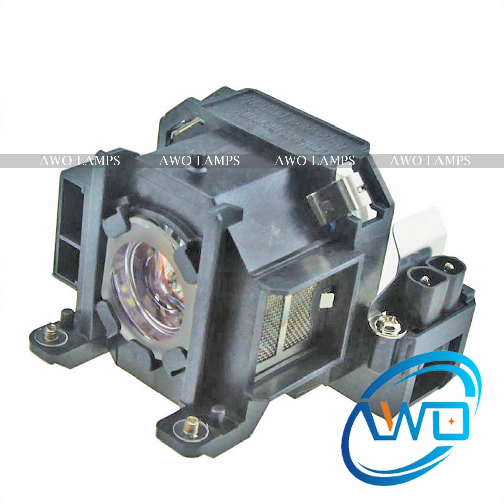 AWO Replacement V13H010L38/ELPLP38 Projector Bare Lamp With Housing For Epson EMP-1715, EMP-1700, EMP-1707, EMP-1710, EMP-1717