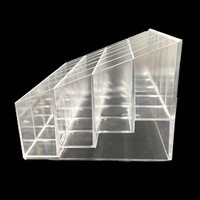 Acrylic Lipstick Pen Storage Box Clear Display Showcase Stand Cosmetic Organizer Makeup Carrying Case Holder Container
