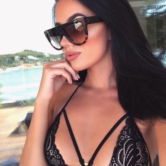 HTB1e1OSQFXXXXXZXpXXq6xXFXXXL - Flat Top Retro Tortoise Shadow Women's Sunglasses