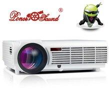 Inteligente 5500 lúmenes Android Wifi Home Theater 1080 P Bluetooth LCD de Video LED Proyector fuLL HD Proyector Projetor projektor Beamer