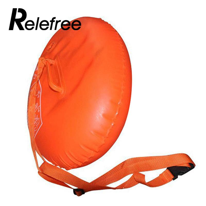 Relefree Sports Safety Swim Device Upset Inflated Buoy Flotation For Open Water Sea Sports Safety Swimming Device