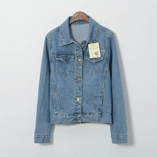 bf4e45d40d Online Shop Denim Jacket Women Fashion Vintage Long Sleeve Blue Jean Coat Ladies  Girl Retro Denim Jackets Woman Coat Femininas