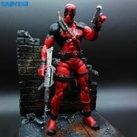 SAINTGI Marvel X Man Deadpool Marvel Select Animate Action Figure Super Heroes PVC 18CM Collection Model