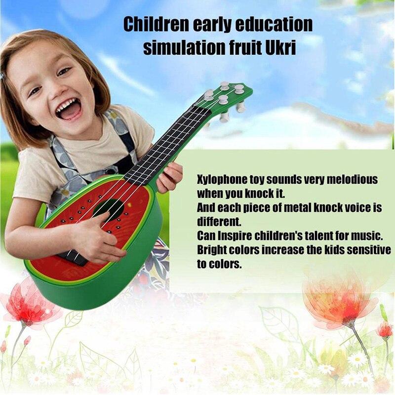 Новинка; Лидер продаж Для детей узнать Гитары Гавайские гитары укулеле креативные милые мини фрукты может играть Музыкальные инструменты И... ...