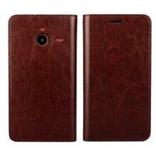 Для Microsoft Lumia 640 XL/640 XL LTE случае полного зерна Натуральная Кожа Телефон чехол для Lumia 640 XL Fundas Капа