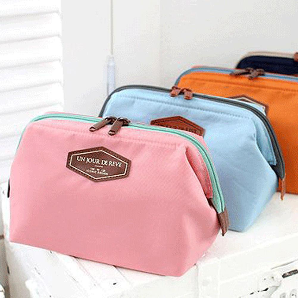 Portable Travel Makeup Cosmetic Bag Toiletry Case Storage Holder Pouch Large Capacity Toilet Bathroom Storage Organizer