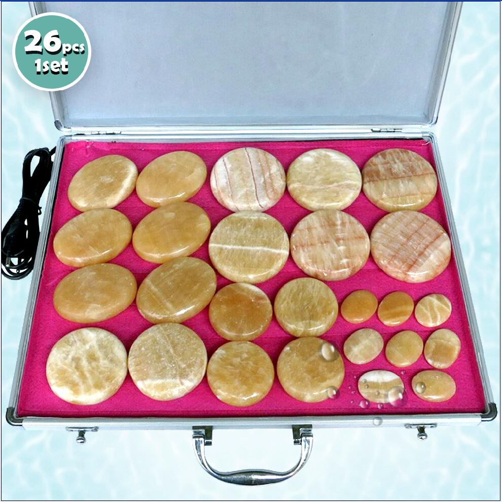 New type! 26pcs/set Hot stone body massager yellow Jade Salon SPA with heater bag ysgyp-nls CE and ROHSNew type! 26pcs/set Hot stone body massager yellow Jade Salon SPA with heater bag ysgyp-nls CE and ROHS