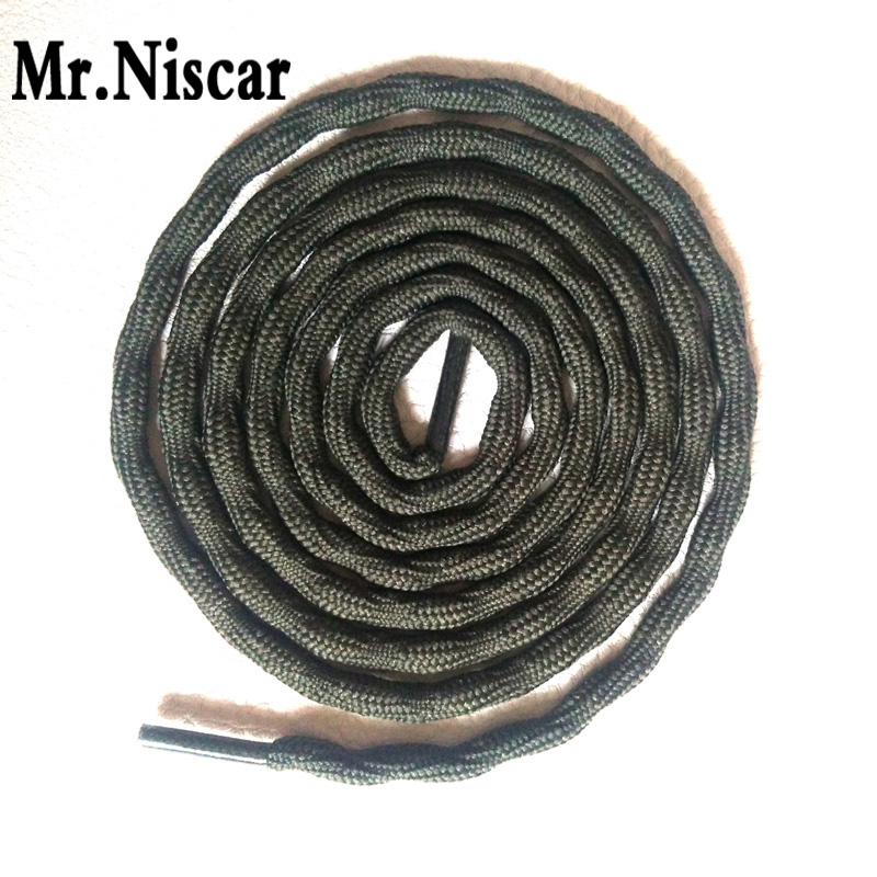 Mr.Niscar 2 Pair Round Athletic ShoeLaces Non-Slip Strong Hard-Wearing Outdoor Hiking Sneaker Shoe Laces for Boots Shoe Strings jup 50 pairs sneaker shoelaces skate boot laces outdoor sport casual multicolor bumps round shoelace hiking slip rope shoe laces