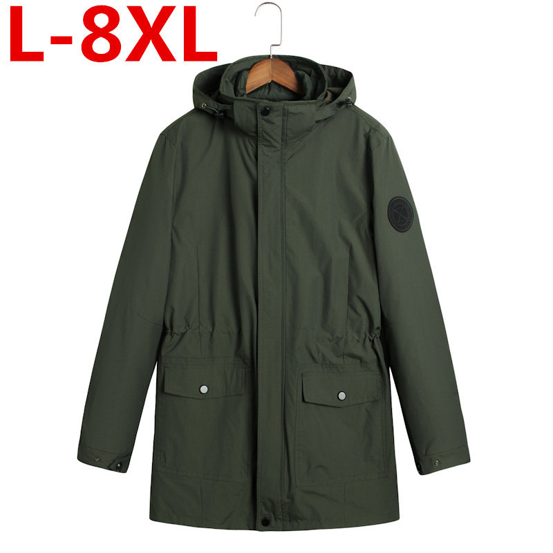large size 8XL 7XL Winter jacket Men The liner is removable Thick Coat Thermal Warm Windproof Hood Jackets Mens Outwear Parka winter jacket men thick velvet coat thermal warm windproof hood jackets mens outwear parka homme jaqueta men s casual coats