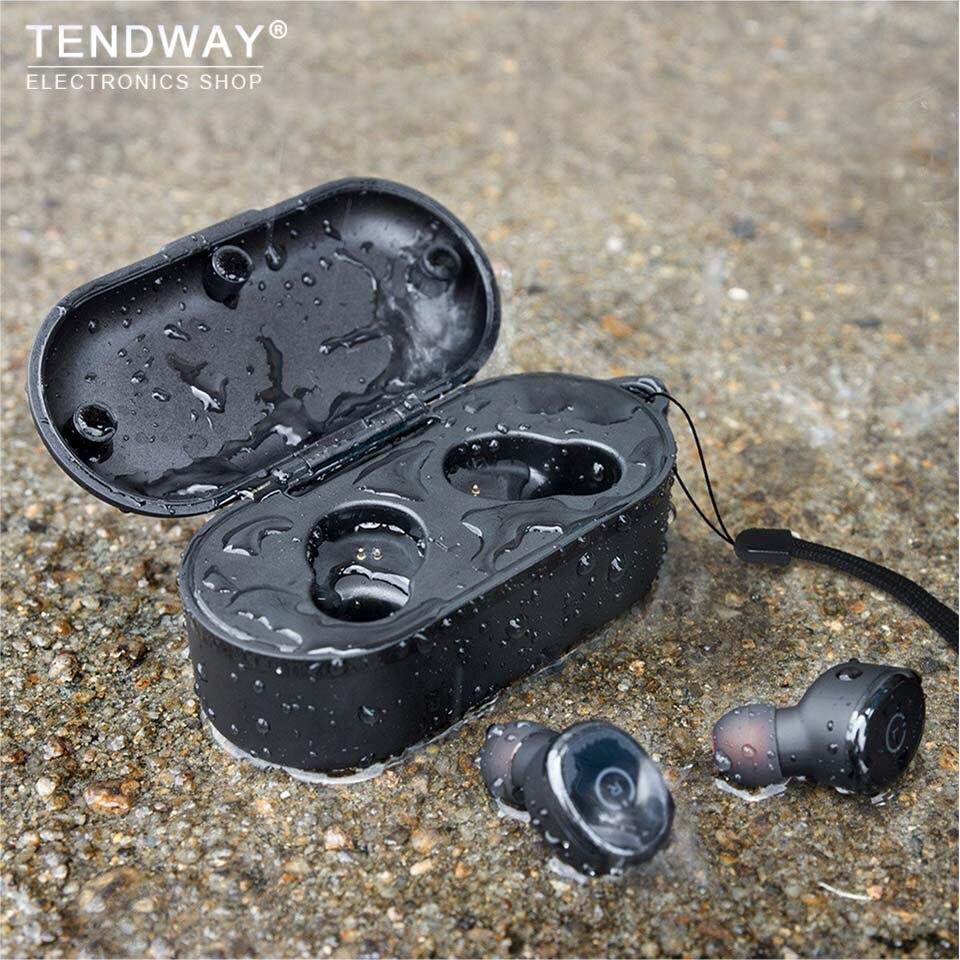 Bluetooth 5.0 TWS Écouteurs Avec 600 mah Boîte de Charge IPX8 Tactile Sans Fil Écouteurs Invisible Furtif Mini Ecouteur Vrai Sans Fil