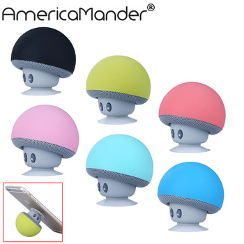 AmericaMander Wireless Mini Bluetooth Speaker Portable Mushroom Waterproof Stereo Bluetooth Speaker for Mobile Phone iPhone
