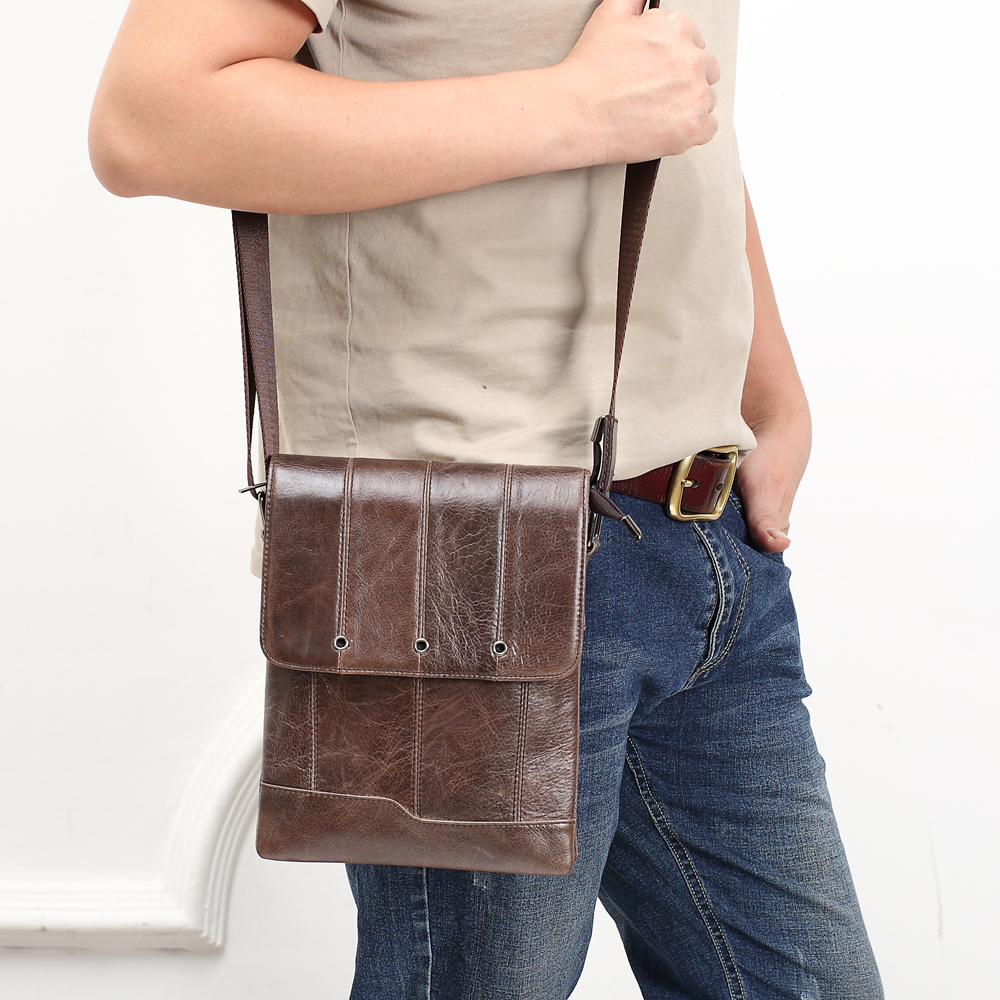 MEIGARDASS Genuine Leather Crossbody Bag Men Shoulder Bag Travel Messenger Bags for men Business iPad Handbags Male Tote Purse mva genuine leather men bag business briefcase messenger handbags men crossbody bags men s travel laptop bag shoulder tote bags