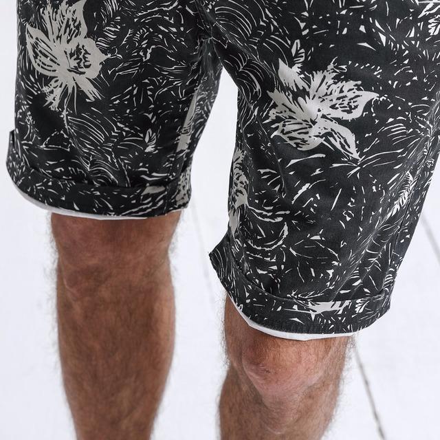 Men's Beach Shorts Flowers Printed Casual Vintage Slim Fit