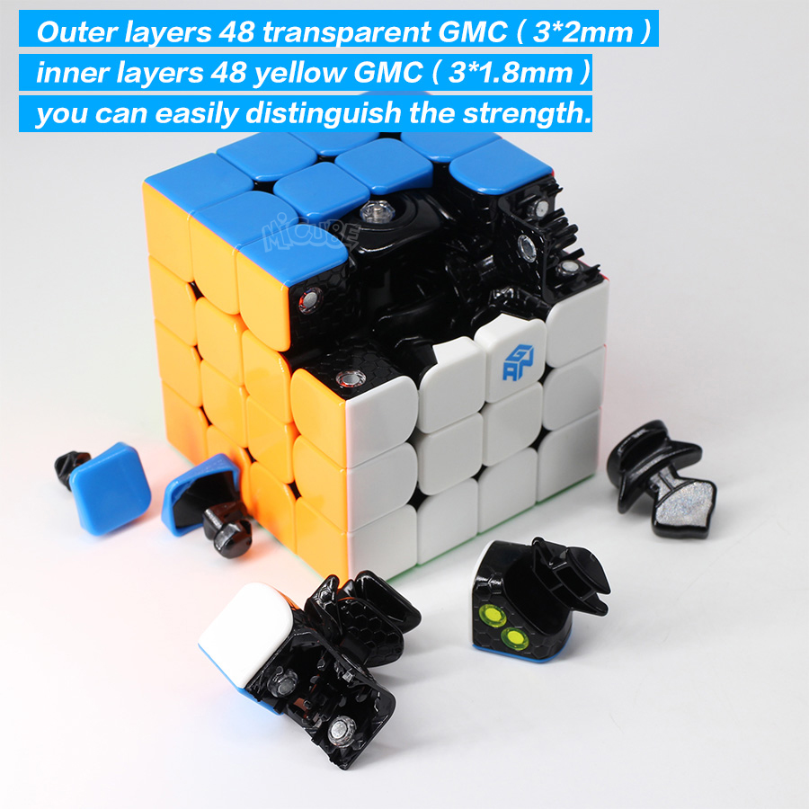 GAN 460 M Cube magnétique 4x4 Cube magique 4x4x4 Gan 460 M vitesse Gan460 M Cubo Magico 4*4 Puzzle professionnel sans autocollant Gan Cube - 3