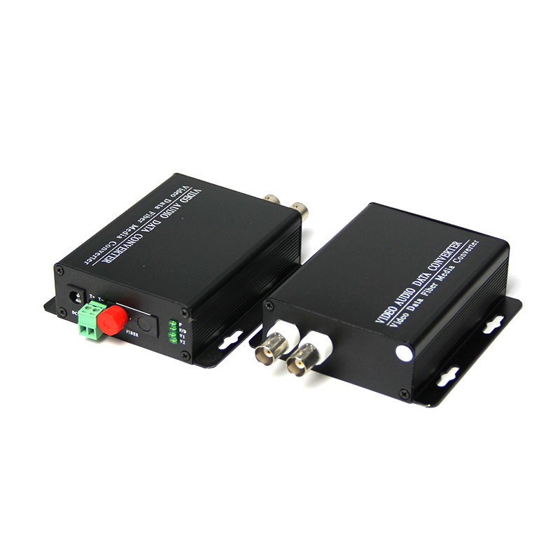 2 way Digital Video Optical Transceiver single mode single fiber with a reverse data RS485 FC port 20KM 1 pair