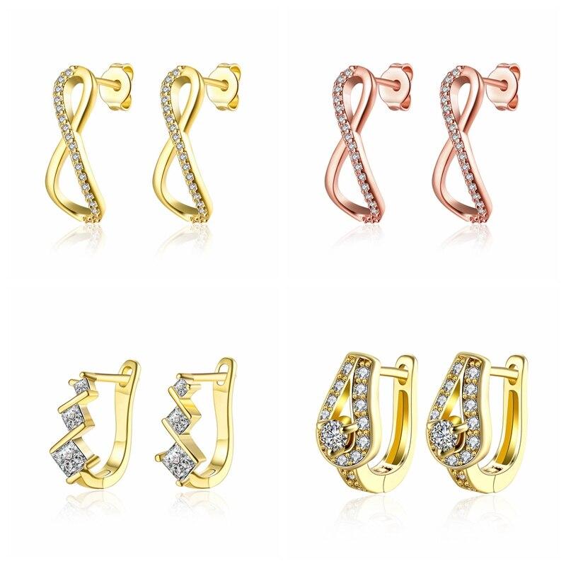 c5871e131 INALIS Gold Stud Ohrringe für Frauen Geometrische Ohrringe Strass Acryl  Metall Herz Platz Runde Hand Sterne Ohrringe Pendientes ~ Premium Deal June  2019