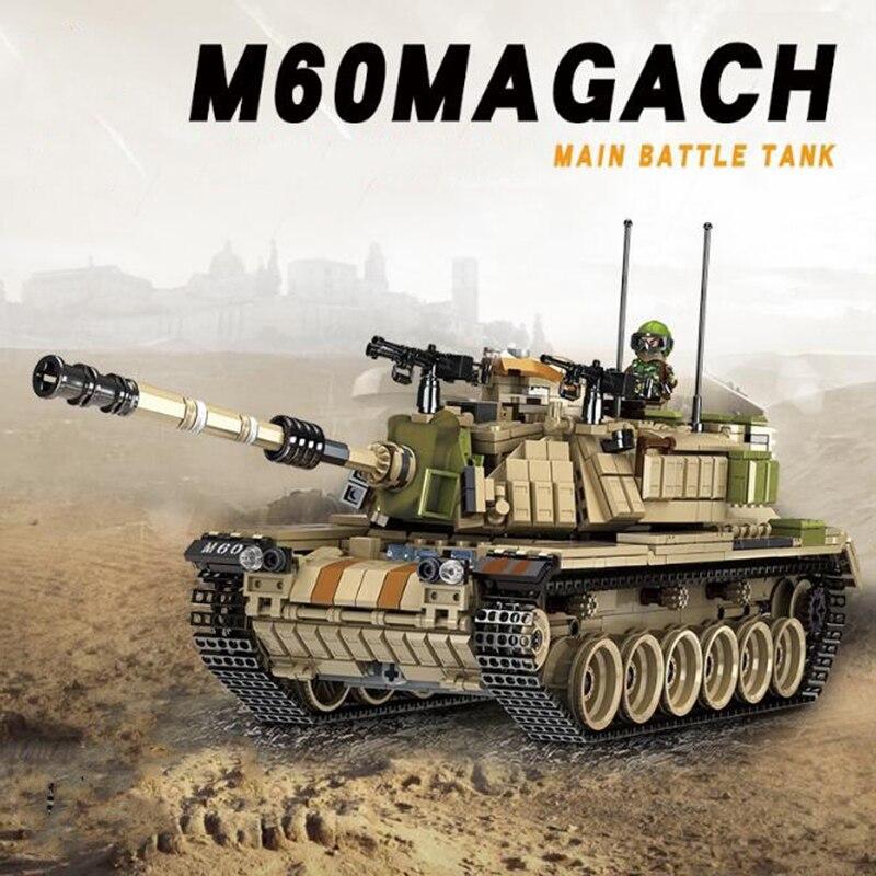Здесь продается   1753 pcs Military World War tank bricks 2em1 M60 Main Battle Tank Army Forces Building Blocks brinquedos oyuncak   Игрушки и Хобби