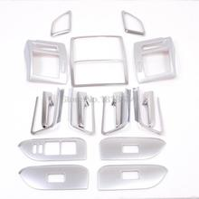 For Toyota Prado FJ150 2014-2016 Auto Cover Accessories Interior Door Handle/Door Armrest/Air Outlet/Lamp Frame Covers 17pcs/set