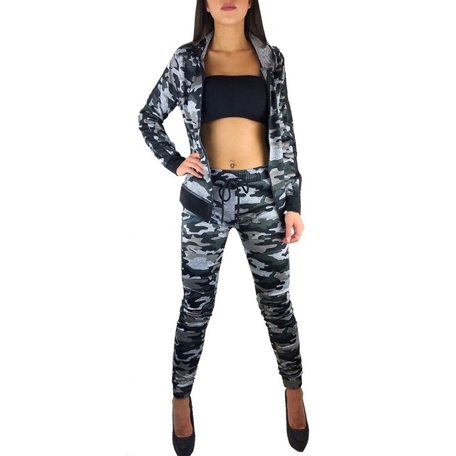 ZOGAA 2019 women long sleeve long pants suits two pieces set sporting tracksuit outfit Hoodie Top And Pant Tracksuit Women Sets
