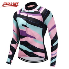 2019 FUALRNY NEW cycling jersey long sleeve men cycling jersey top sale mtb bike wear cycling clothing for ropa 100% Polyester цена