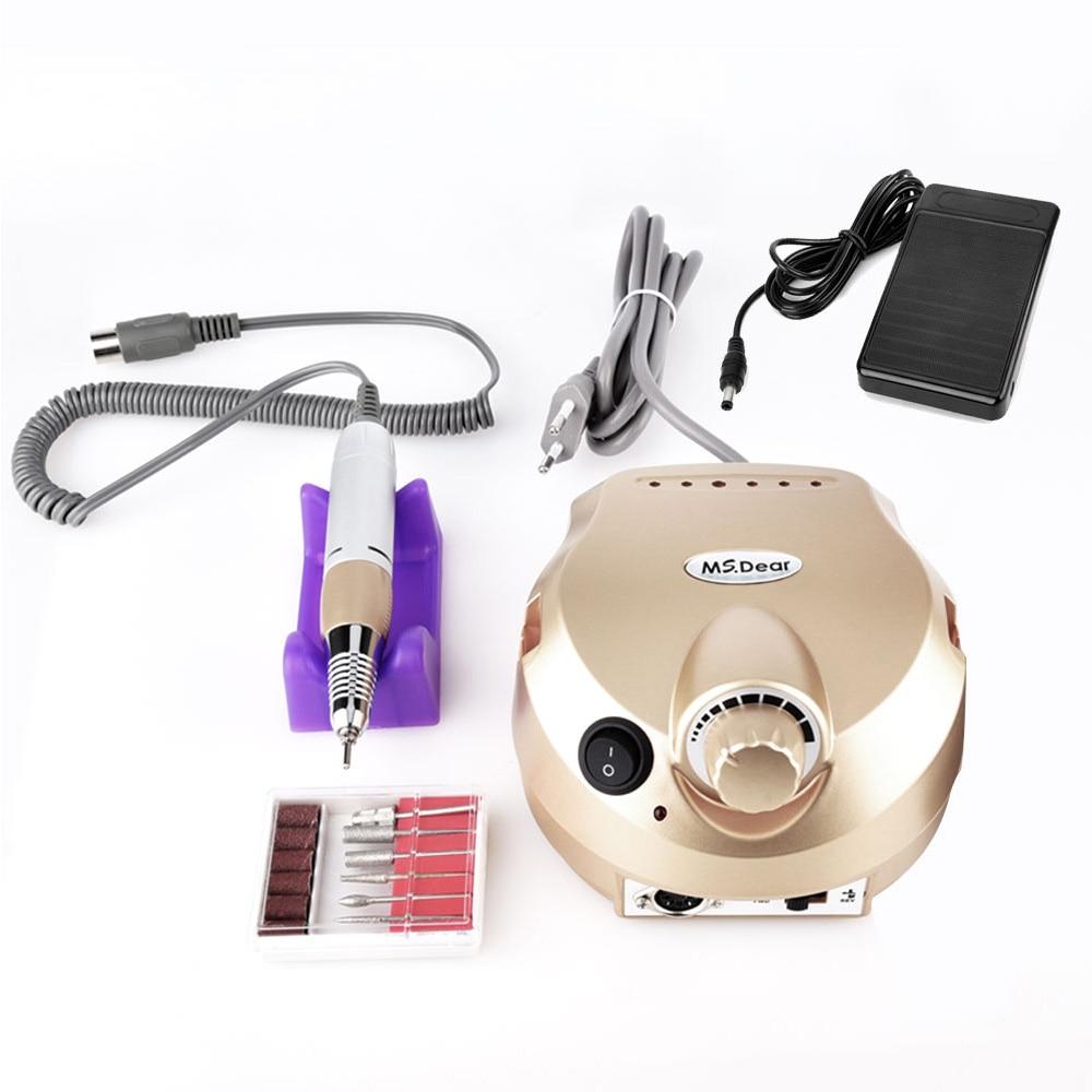 35000RPM Electric File Drill Nail Art Polisher Tool Bit Machine Professional Manicure Pedicure Kit Sand Band