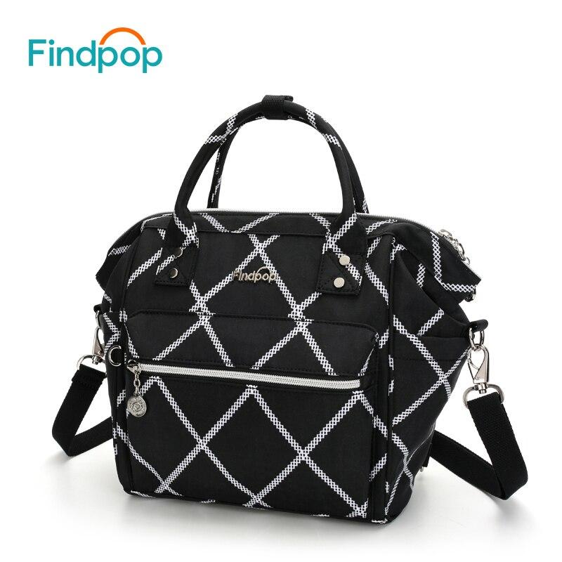 Findpop Multifunctional Women's Handbag Nylon Mini Crossbody Bags For Women Plaid Shoulder Bags 2018 Casual Black Crossbody Bags chic plaid pattern fringed multifunctional loop yarn scarf for women