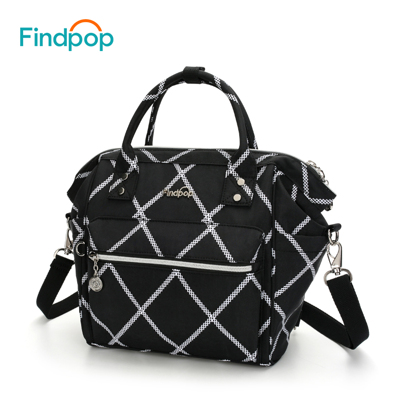 Findpop Multifunctional Women's Handbag Nylon Mini Crossbody Bags For Women Plaid Shoulder Bags 2018 Casual Black Crossbody Bags