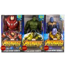 Thanos 30 centímetros Marvel The Avengers Brinquedos Infinito Guerra Imbecil Hulk Homem De Ferro Action Figure Collectible Modelo Toy com Caixa(China)