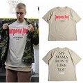 Justin Bieber Temor De Deus Propósito Tour T Camisa Dos Homens/Mulheres da Minha a minha mãe Não Gosta Que Você Letra Impressa Encabeça Tee Hip Hop Streetwear