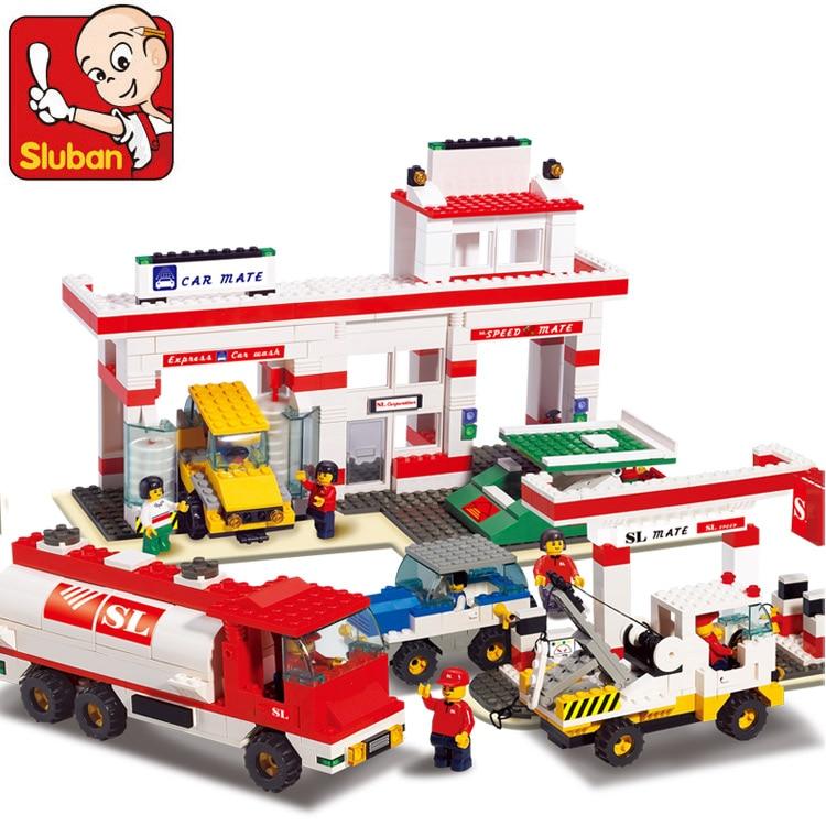 727pcs sluban 2900 city series automotive service center educational model 727Pcs Sluban 2900 City Series Automotive Service Center Educational model & toys hobbies for children Compatible With