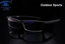 New Außen Männer Brillengestell Sport Schwarze Brille Rahmen für Männer TR90 Optische Glas Korrektionsbrillen Rahmen Rx