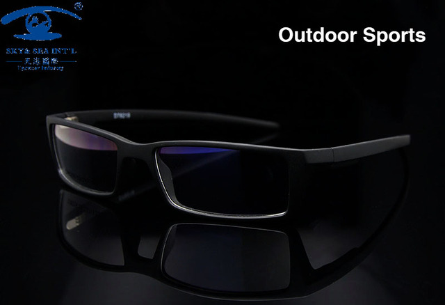 New Outdoor  Men Glasses Frame Sport Black  Eye Glasses Frames for Men TR90 Optical Glass Prescription Eyewear Frame Rx