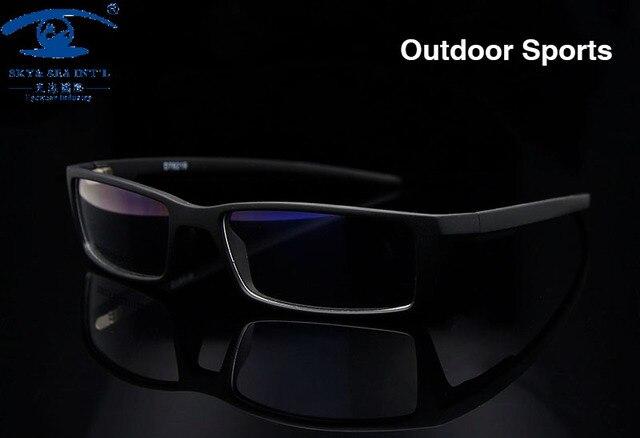 Nuevos Hombres Al Aire Libre Gafas de Deporte Marco Negro Gafas Marcos para Los Hombres TR90 Anteojos Recetados Marco de Cristal Óptico Rx