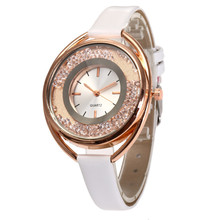 Relojes mujer 2017  New arrival Women Quartz Watch Quicksand Design Leather Band Analog Alloy Wrist Watch  dropshipping #0823
