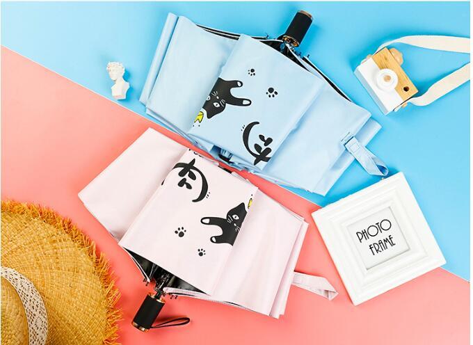 Portable umbrella foldable sunscreen umbrella gift sunshine umbrella free shipping