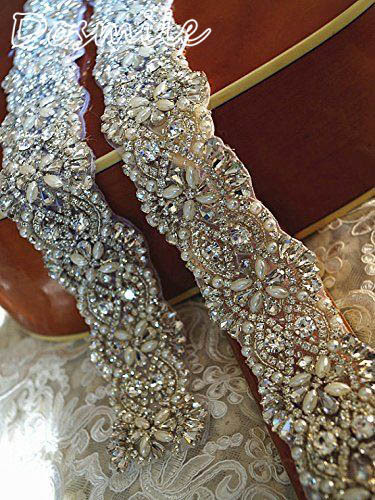 2016 new dress belt free shipping crystal dazzling beads and sequins wedding belt
