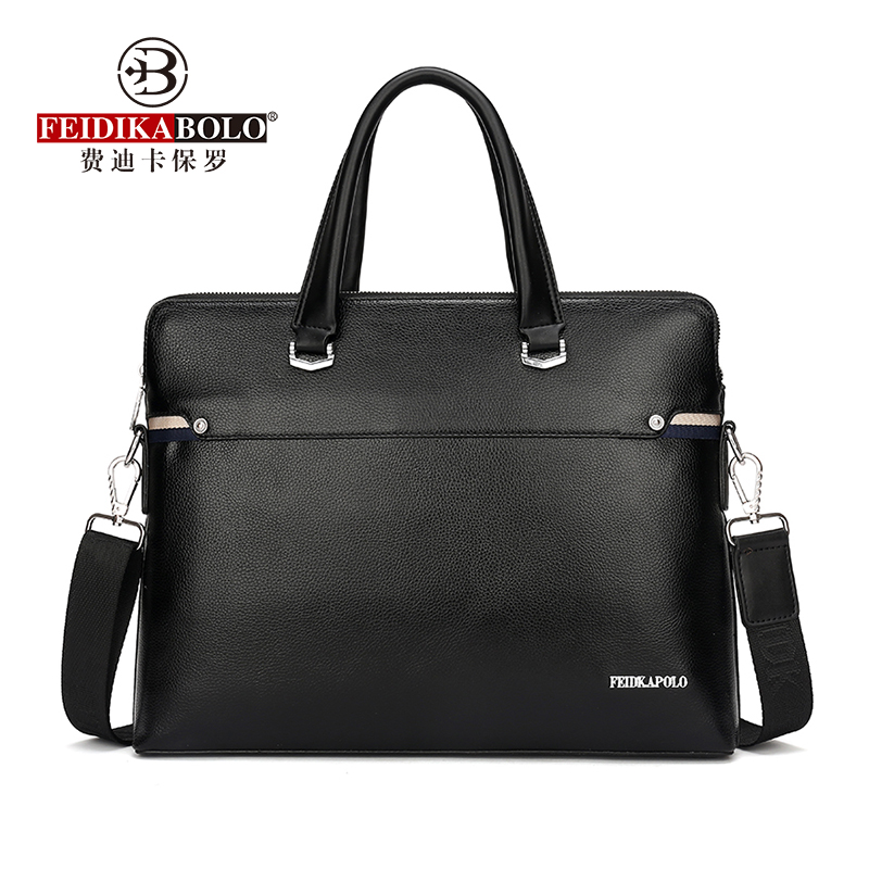 FEIDIKABOLO Classic Men's Handbag New Fashion High-Quality Business Computer Bag Casual Personality Shoulder Messenger Bag