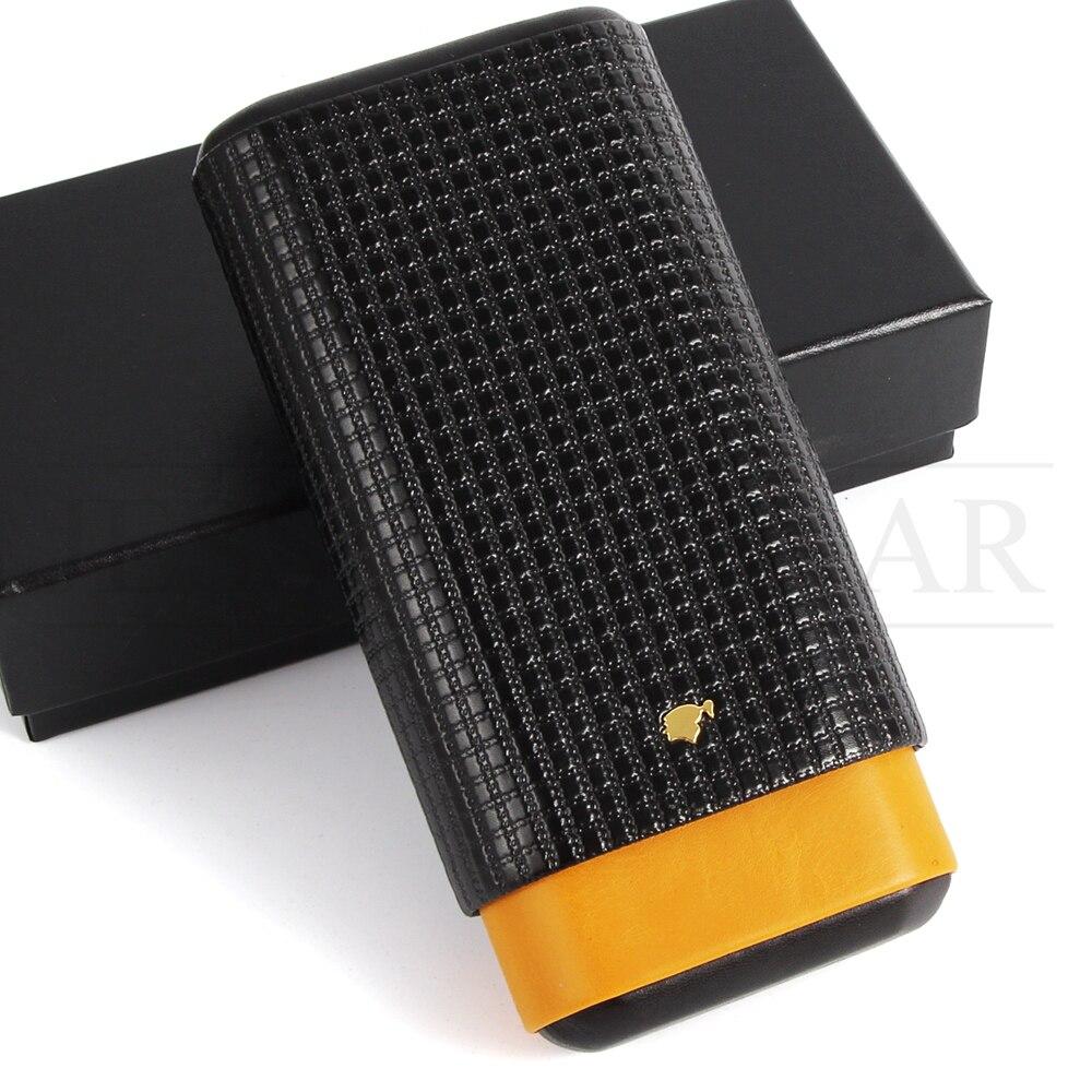 COHIBA Gadget Cedar Wood Cigar Case Leather Cigar Travel Case Pocket Cigars Humidor Holder With Cigars Cutter Gift Box