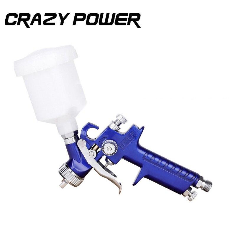Crazy Power 0.8MM/1.0MM Nozzle H-2000 Professional HVLP Spray Gun Mini Air Paint Spray Guns Airbrush For Painting Car Aerograph  цены