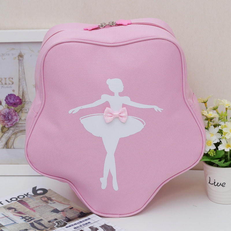 Free Shipping 1Pc Star Design Pink Ballet Bags For Girls Printed Child Backpack For Ballerina Kids Bags Ballet Bag Princess Bags