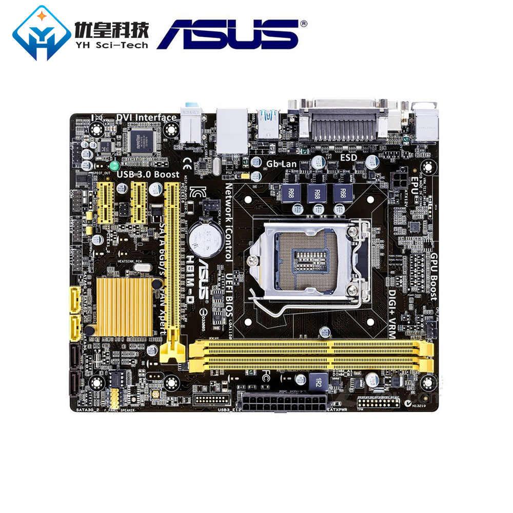 Ban Đầu Sử Dụng Máy Tính Để Bàn Bo Mạch Chủ Intel H81 Asus H81M-D LGA 1150 Core I7/I5/I3/Pentium/Celeron DDR3 16G Uatx