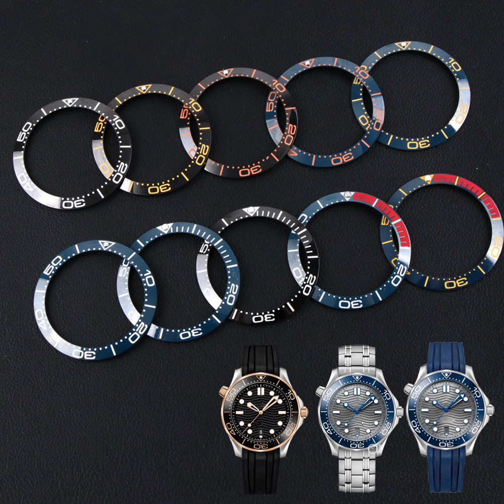 38-30.8mm Ceramic Bezel Insert For 41mm Dial For O-mega Sea Master 007 Watch Face Watches Replace Accessories Colorful Ring