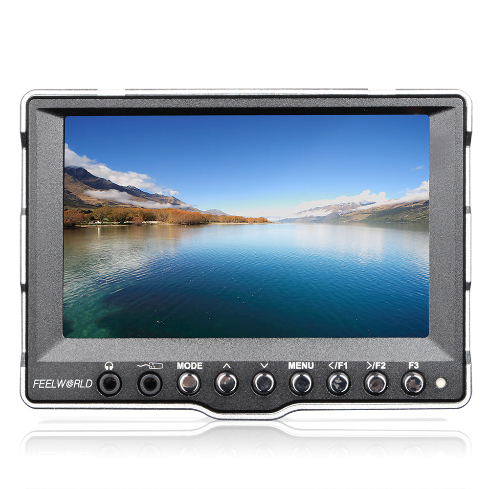 Feelworld A5 5'' Aluminum SDI HDMI Ultra HD 800*400 CCTV On-Camera LCD Field Monitor for Canon 5D II 7D BMCC DSLR Cameras