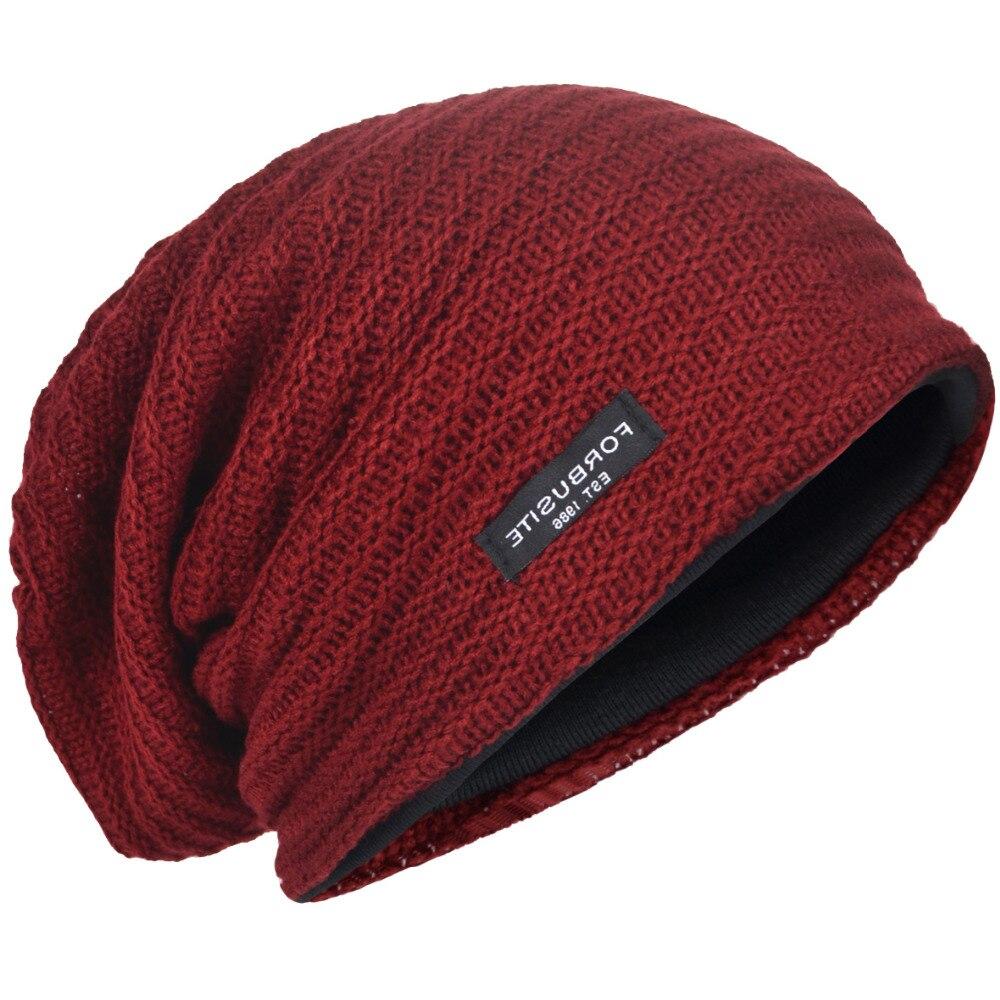 500e55868f05 HISSHE Men Classic Cotton Slouchy Beanie Cap Bagggy Winter Warm Soft ...