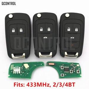 Image 1 - QCONTROL 2/3/4 Tasten Auto Funkschlüssel DIY für OPEL/VAUXHALL 433 MHz für Astra J Corsa E Insignia Zafira C 2009 2016