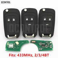 QCONTROL 2/3/4 Tasti Chiave A Distanza Dell'automobile FAI DA TE per OPEL/VAUXHALL 433 MHz per Astra J Corsa E Insignia Zafira C 2009-2016